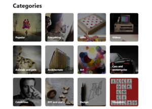 categories on pinterest