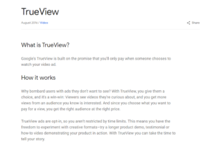 trueview program